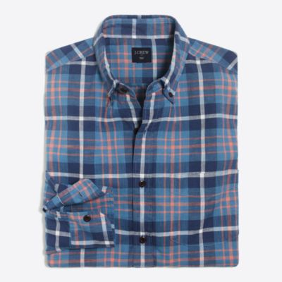 Slim plaid homespun shirt factorymen new arrivals c