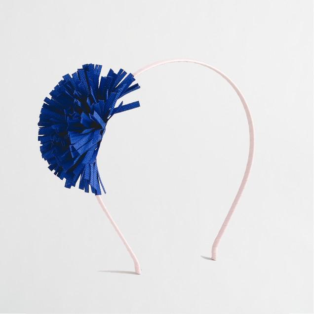 Girls' fringe flower headband