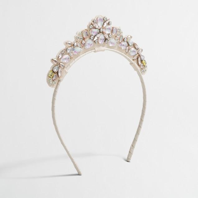 Girls' jeweled tiara headband