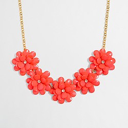 Factory girls' flower petal necklace