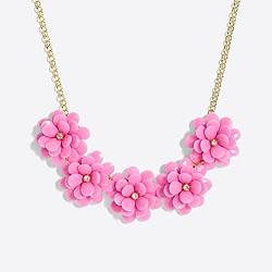 Girls' flower petal necklace