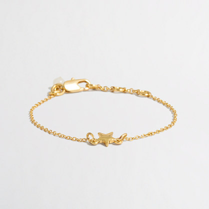 Girls' star charm bracelet