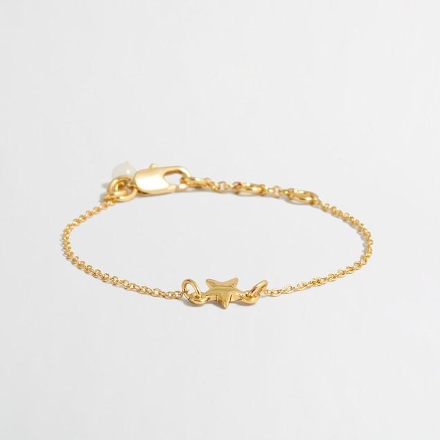 Girls' star charm bracelet