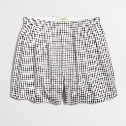 Open-check boxers