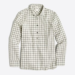 Petite homespun popover shirt in boy fit