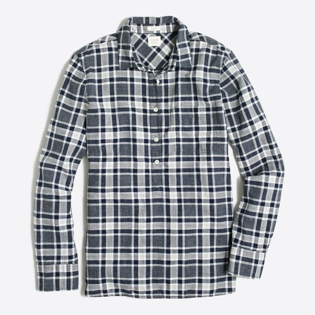 Homespun popover shirt in boy fit