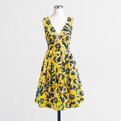 Floral piqué dress