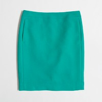 Petite crepe pencil skirt