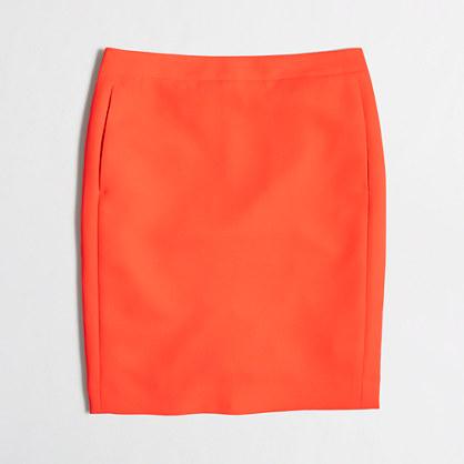 Petite crepe pencil skirt