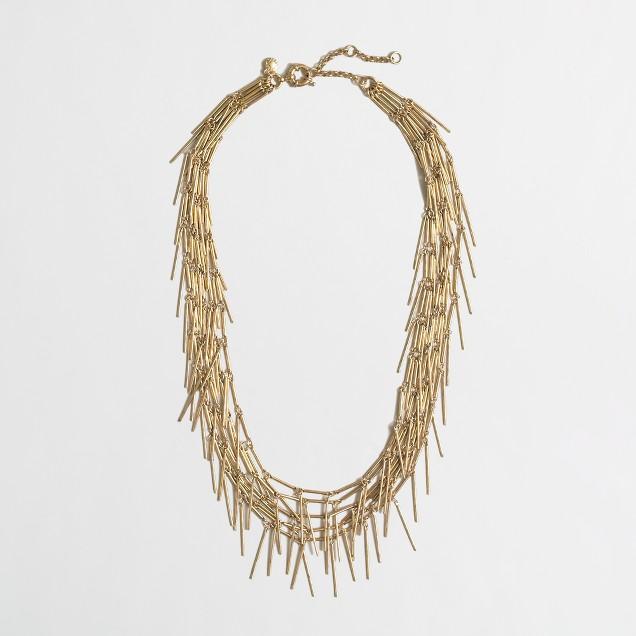 Golden fringe necklace