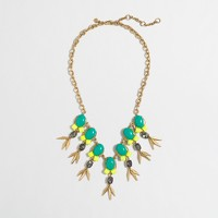 Stone and crystal spike necklace