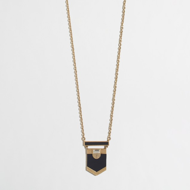 Colorblock arrow pendant necklace