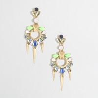 Geometric stone earrings