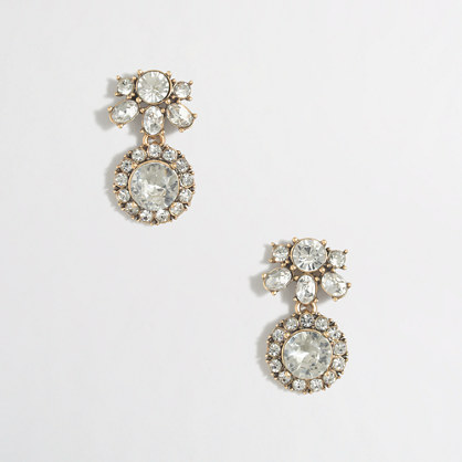Double-circle drop earrings
