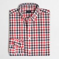 Washed shirt in tri-color gingham