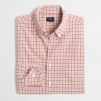 Washed shirt in open tattersall