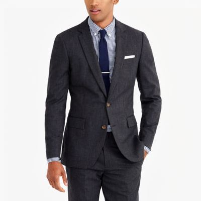 Thompson suit jacket in flex wool factorymen tall c