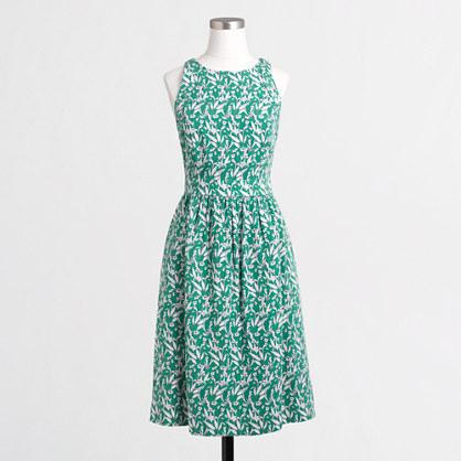Printed cutaway dress