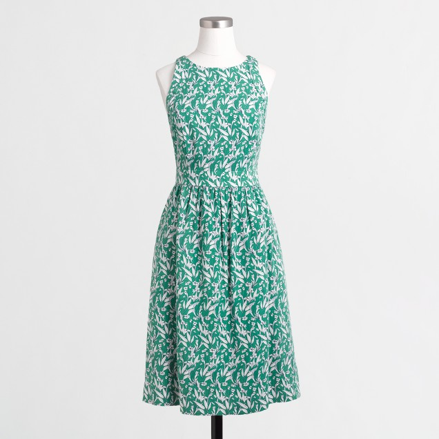 Printed cutaway dress