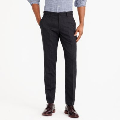 Slim Thompson suit pant in flex wool factorymen tall c