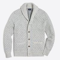 Lambswool nordic dot cardigan sweater