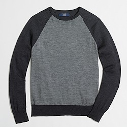 Merino baseball crewneck sweater