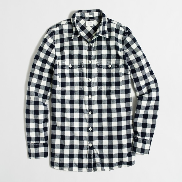 Petite flannel shirt in perfect fit