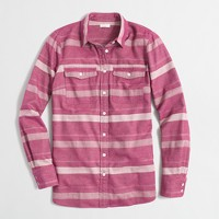 Striped flannel shirt