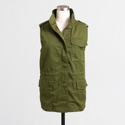 Factory sherpa-lined utility vest