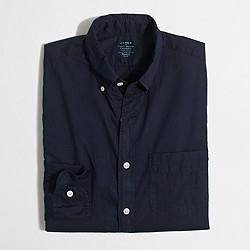 Factory slim lightweight overdyed chambray shirt