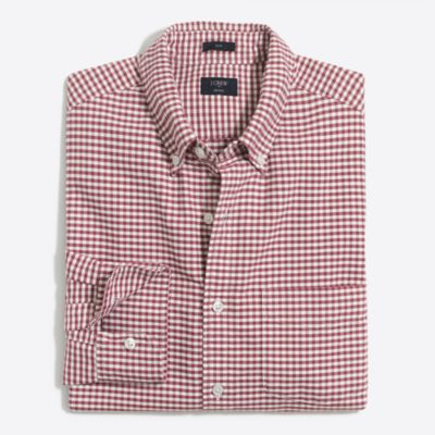 Slim plaid oxford shirt factorymen casual shirts c