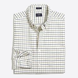 Slim plaid oxford shirt