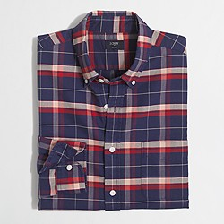 Factory plaid oxford shirt