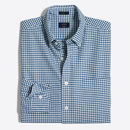 Tall plaid oxford shirt