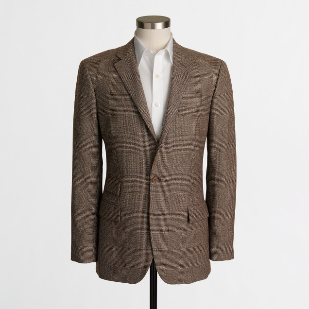 Thompson suit jacket in glen plaid