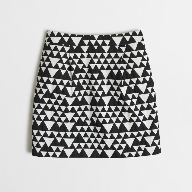 Triangle jacquard mini skirt
