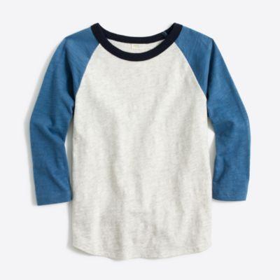 Boys' colorblock baseball T-shirt