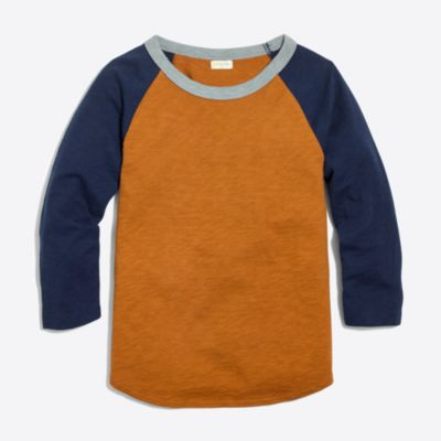 Boys' colorblock baseball T-shirt
