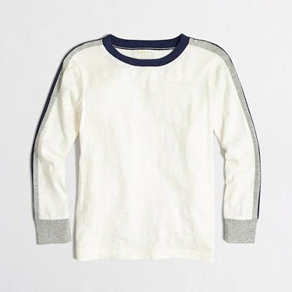 Boys' long-sleeve racing-striped T-shirt
