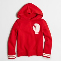 Boys' patch hoodie