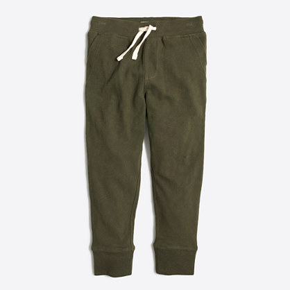 Boys' slim slouchy sweatpant