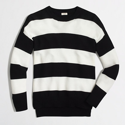 Striped cobble-stitch sweater