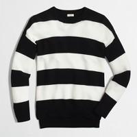 Striped cobble-stitch sweater