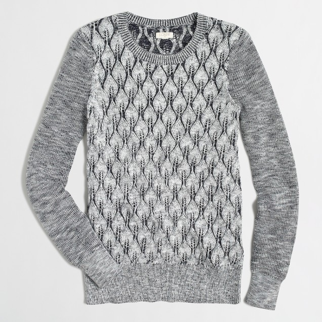 Textured-knit marled sweater