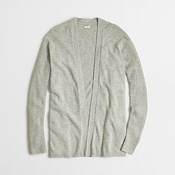 Factory warmspun cardigan sweater with ribbed sleeves
