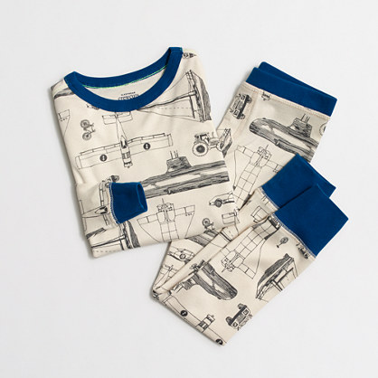 Boys' transportation mode sleep set