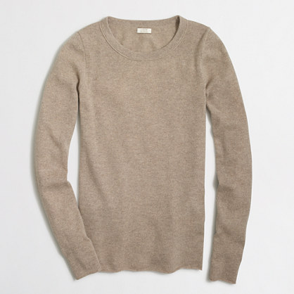Long-sleeve cashmere T-shirt
