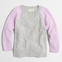 Factory girls' colorblock sweater
