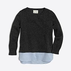 Girls' shirttail-hem sweater