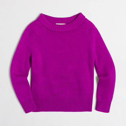 Girls' foldover sweater